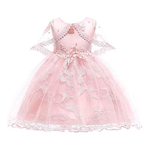 Lzh vestito da bambina elegante floreale bowknot principessa abiti partito