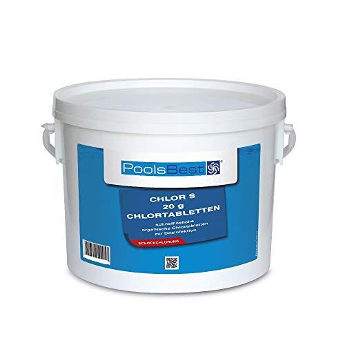 3 Kg - PoolsBest® Chlortabs S 20g - schnelllöslich -