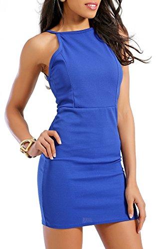 INFINIE PASSION - dos nu - Robe sexy bleu roi Bleu roi