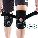 AVIDDA Kniebandage,2 Stück Kompression Knieschoner,rutschfeste Einstellbar Atmungsaktiv Unisex Knieorthese,Für Arthritis,Schmerzlinderung,Wiederherstellung nach Verletzungen,Basketball und mehr Sport