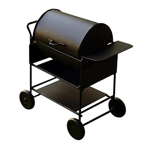 Sharplace Miniatur Barbecue BBQ Grillwagen für 1/12 Puppenhaus Garten Dekoration - Schwarz