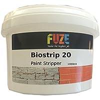 Fuze Biostrip 20- Líquido decapante de pintura, 1 L, base de agua, elimina pintura y barniz de madera, ladrillos, hormigón, metal, uPVC, vidrio