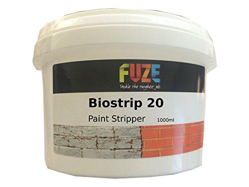 Abbeizmittel, Biostrip 20, 1 Liter, von Fuze Products. Lackentferner auf Wasserbasis. Entfernt Lack und Farben muhelos von Holz, Ziegeln, Beton, Metall, Kunststoff, Glas und mehr.