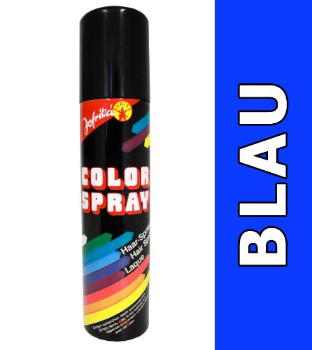 NET TOYS Farbiges Haarspray blau Colorspray blaues Haar Spray Haarcoloration Fasching Haarsprays Colorsprays Haarcolorationen