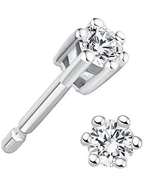 Juwelier Gelber Diamant 0,15 ct Ohrstecker Lupenrein 585 14 Kt Weißgold Klassische 6er Krappen Fassung Brillant...