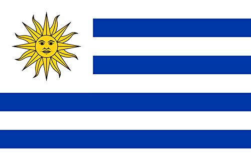 magFlags Flagge: XXS Uruguay   Querformat Fahne   0.24m²   40x60cm » Fahne 100% Made in Germany