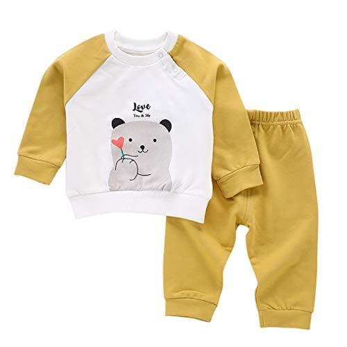 LEXUPE Baby Mantel,Infant Toddler Mädchen Junge Winter Daunenjacke Kapuzenjacke Outwear Kinder Pelzkragen mit Reißverschluss Coat Warme Kleidung(Gelb,80)