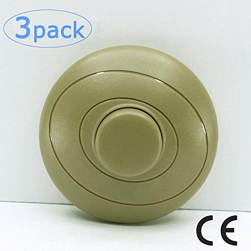 Anvision 3er Pack Broze AC 100-250V Inline Lampen-Fußschalter mit Schiebe-Fußschalter für LED An-Aus-Schaltung (Inline-lampe Schalter)