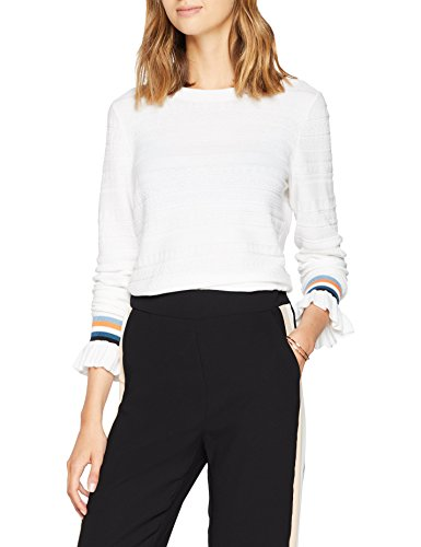 BOSS Casual Damen Pullover Waketta, Weiß (White 100), Small