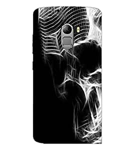 PrintDhaba Digital Skull D-2119 Back Case Cover for LENOVO VIBE K4 NOTE (Multi-Coloured)
