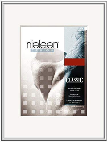 Bilderrahmen von Nielsen - Alurahmen Classic 40x50, Silber - Normalglas