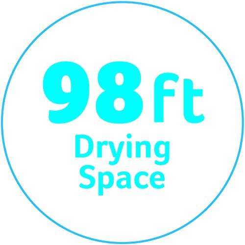 Minky ausziehbare Wäscheleine für Außen, 30 Meter (2x15m) - 6