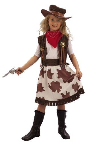 Vegaoo - Cowgirl-Kostüm für Mädchen - 134/140 (10-12 Jahre)
