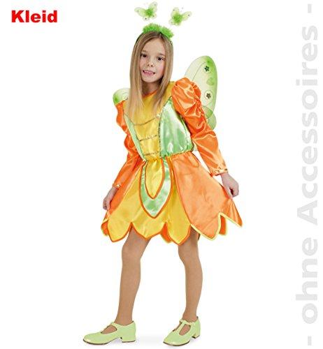 Fries 1826 Schmetterling Kleid Kinder Fasching Karneval Mädchen Kostüm: Größe: 116 (Wald Prinzessin Kind Kostüm)