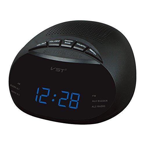 Zantec Clock Controlled LED Wecker mit Radio & Snooze Funktion Geschenk Dekoration europäischen Spezifikation 13,5 * 6,5 * 13,5 cm (Beste Iphone Radiowecker)