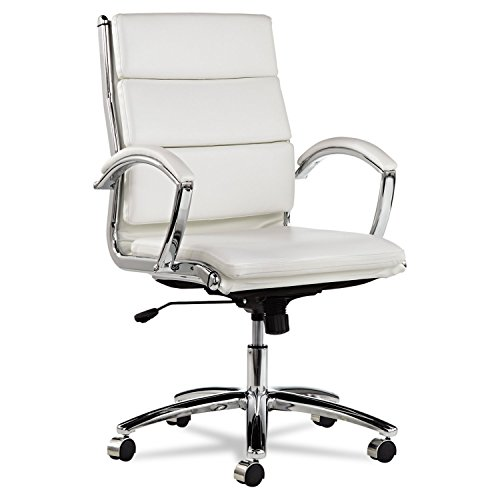 neratoli-mid-back-swivel-tilt-chair-white-faux-leather-chrome-frame