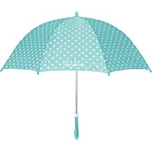 Playshoes Kinder Regenschirm Punkte, Paraguas para Niñas, Turquesa (Türkis 15), Talla