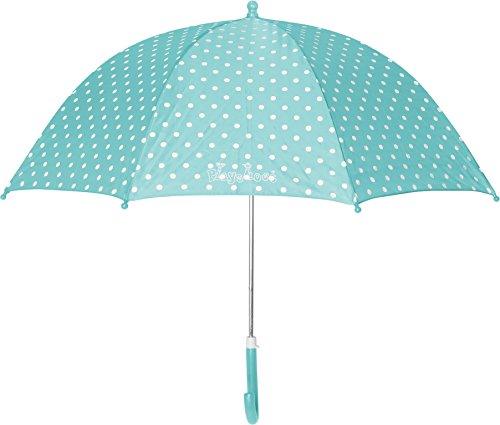 Playshoes Mädchen Punkte Regenschirm, Türkis (Türkis 15), One Size