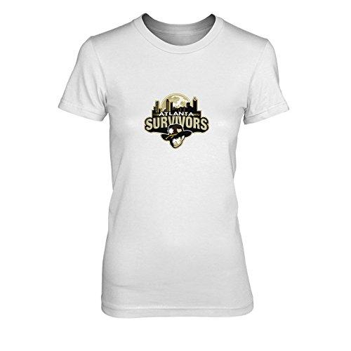 Atlanta Survivors - Damen T-Shirt, Größe: XL, Farbe: weiß