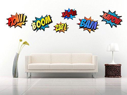La manera rápida y fácil de transformar una habitación en minutos. Cada juego consta de seis palabras. El tamaño mediano tamaño de la hoja es de 70cm de alto. La lámina grande es de 140cm de alto. Se puede aplicar a paredes pintadas, azulejos, espe...