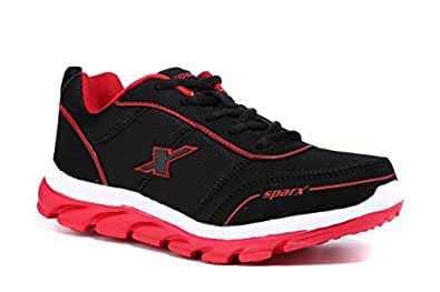 Sparx Men's Black and Red Sports Shoes - 7 UK