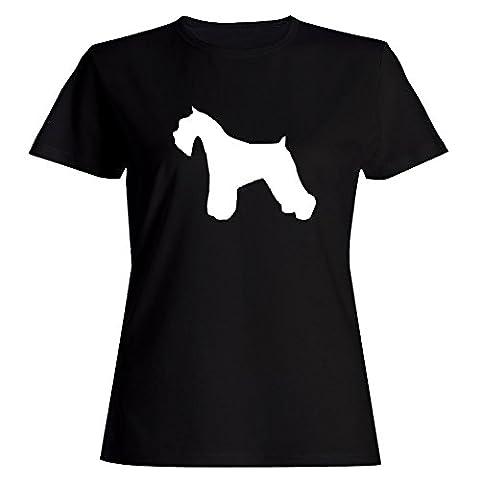 Idakoos Miniature Schnauzer SILHOUETTE Femmes T-Shirt