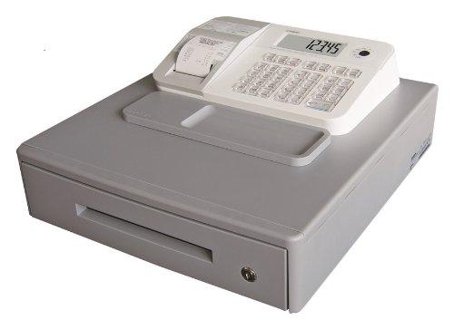 Casio SE-G1MB-WE - Caja registradora (cajón grande para dinero, impresora y pantalla para cliente), color blanco