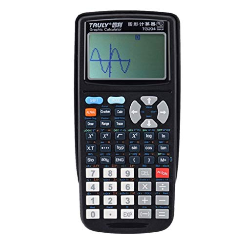 Hermosairis TG204 Portable Größe Schüler Graphics Calculator Scientific Graphing Rechner Für Grafik Lehre Schwarz