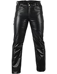 online retailer 10128 8e803 Amazon.it: Pantalone Di Pelle Uomo - Uomo: Abbigliamento