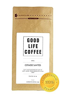 GOOD LIFE - Brazilian Coffee Beans, Roasted to Order, Fairtrade & Organic Single Origin Coffee from Cerado Brazil, Premium Gourmet Specialty Coffee is Delightfully Delicious, Full of Fresh Flavour, Enjoy Award Winning Arabica Coffee Beans, Perfect for Fre