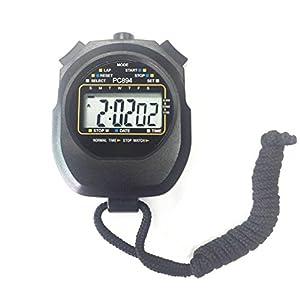 Qiorange Digital Professional Handheld LCD Chronograph Sport Stoppuhr, one-Row 2 Erinnerungen Bahnenzähler Running Timer