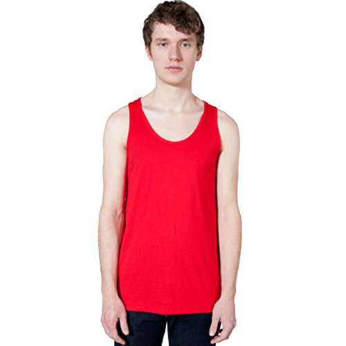 American Apparel Herren Modern Pullunder Gr. XL, rot (Puff Dress Belted Sleeve)