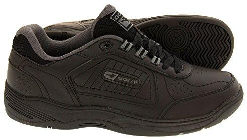Gola Chaussures De Sport À Lacets Soupe Large EE Cuir pour Hommes Noir - noir