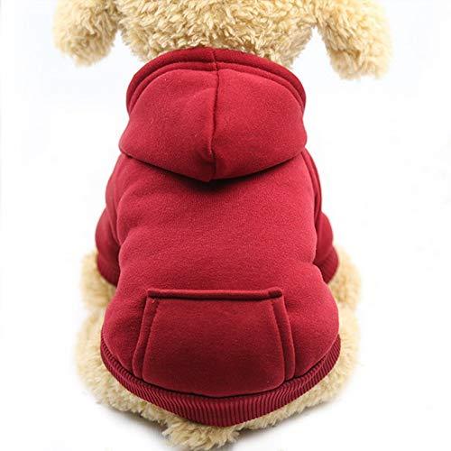 Grivey Haustier Kleidung Hundepullover Hunde Kleider welpen Pullover Hunde Warmer Mantel für Katzen Kleine Hunde Winterjacken Mäntel für Herbst und Winter