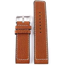 Oozoo Armband - Ersatzarmband für Oozoo Uhren etc. - 22 mm - Farbe : Cognac