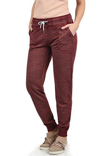 DESIRES Betty Damen Sweathose Sweatpants Relaxhose Mit Melierung Regular Fit, Größe:M, Farbe:Wine Red Melange (8985)