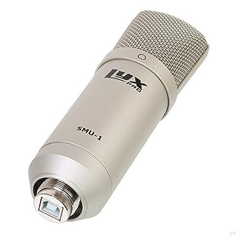 LyxPro SMU-1Micro à condensateur de studio à large membrane - Câble USB et support inclus