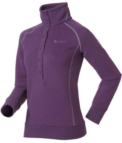 Odlo Damen Pullover Stand-Up Collar Via Calma, imperial purple - purple sage, XS, 220651