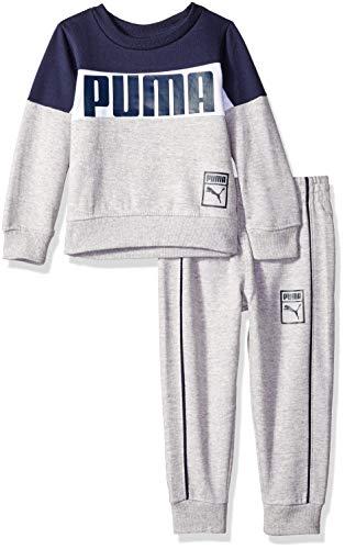 PUMA Toddler Boys' Pullover Fleece Set, Peacoat, 2T