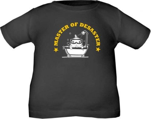 Master of desaster t-shirt pour enfant taille 60-164 10 coloris