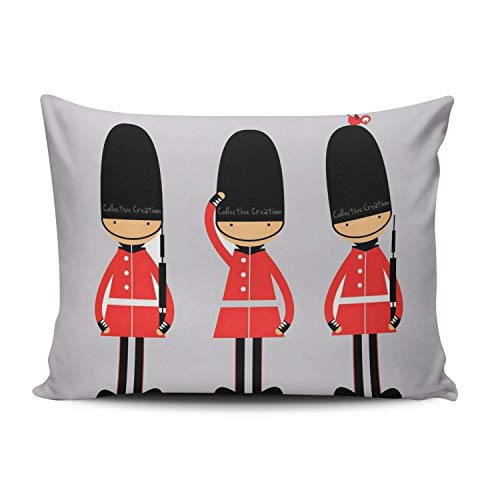 Nifdhkw Custom Beauty Design I Love London Funny London Luxury Red Soldier Boudoir Kissencase Rectangle Zippered One Side Printed 20x30 Inches Throw Kissen Case Cushion Cover -