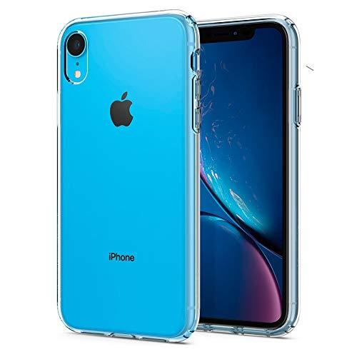 Spigen Liquid Crystal Kompatibel mit iPhone XR Hülle, 064CS24866 Transparent TPU Silikon Handyhülle Durchsichtige Schutzhülle Case (Crystal Clear) Rot Micro Case