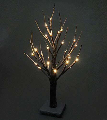 45cm LED Schnee Baum 24 LEDs Lichterbaum Warmweiß Weihnachtsbeleuchtung Batteriebetriebene für Weihnachten, Ostern, Hochzeit, Partei, Innen Dekoration