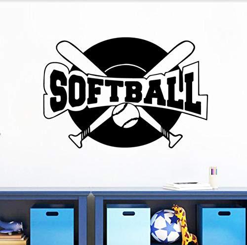 angepasst werden, Größe, Farbe, DIY-Muster】Neue Softball Selbstklebende Vinyl Wasserdichte Wandtattoos Kinderzimmer Dekoration Nordischen Stil Dekoration 58X86cm ()