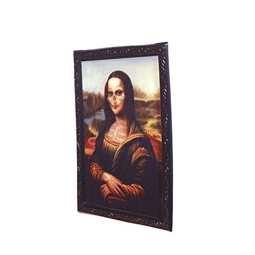Halloween Effektbild Mona Lisa 28x22cm - Lentikular Linsenraster-Bild mit (Mona Lisa Zombie)