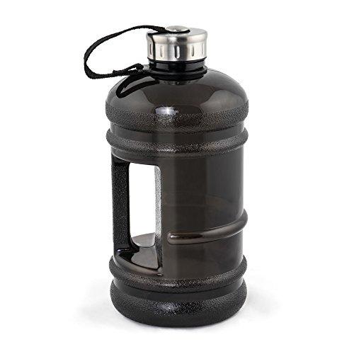 MELIANDA XXL Sport Trinkflasche MA-7400 - 2,2 Liter - MAXI Wasserflasche - Gym-Bottle - BPA & DEHP Frei, Grau
