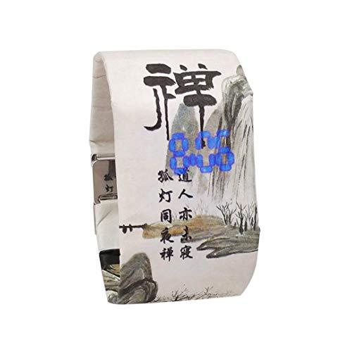 Armbanduhr Band, Winkey New Creative Papier Uhr, LED Wasserdicht Uhr Tyvek Papier Gurt Digital Uhren Band Length: 21cm, Band Width: 35mm e
