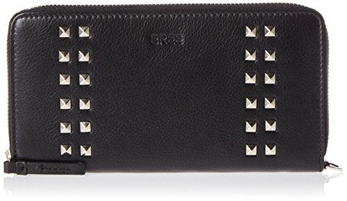 BREE Damen Issy 131, Black Rivet, Zip. L. Purse W17 Geldbörse, Schwarz (Black Rivet), 10x1.5x19.5 cm (Rivet Damen Fashion)