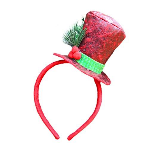 Huhu833 Weihnachten glücklich Weihnachten Stirnband Santa Xmas Party Decor Doppel-Haarband Schließe Kopf Hoop (Kostüme Einfache C)