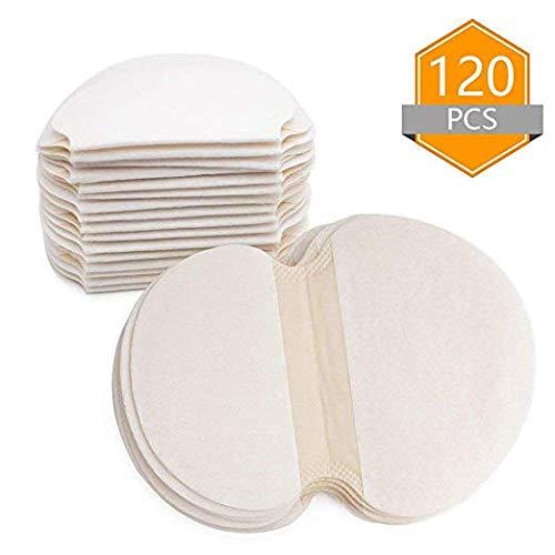 Almohadillas para el sudor en las axilas Almohadillas absorbentes para el sudor de algodón desechables Unisex T-shirt Prendas de transpiración(120PCS)